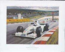 JOHNNY HERBERT Stewart Ford 1999 EUROPEAN  GP by MICHAEL TURNER